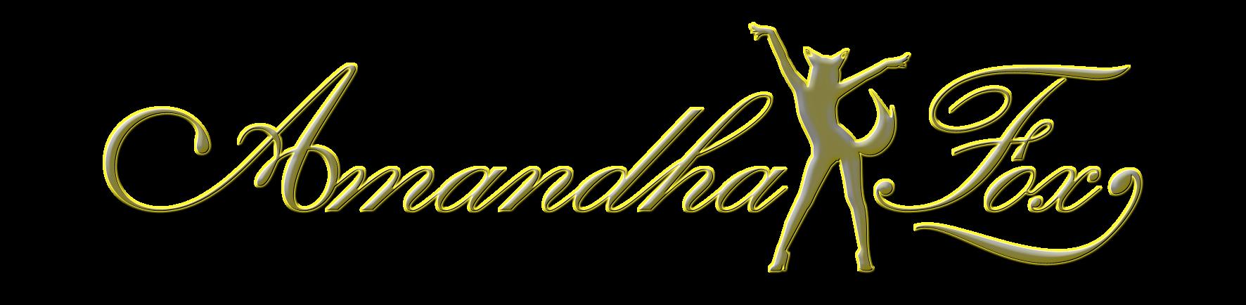 Logo Amandha Fox metallico
